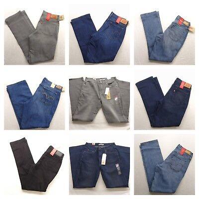 Levis 505 Straight Leg Stretch Womens Jeans Denim All Sizes All colors Denim Cloth Womens Jeans