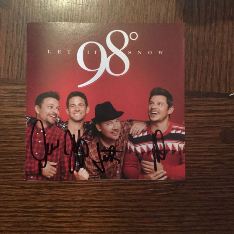 98 DEGREES  Let It Snow With Autographed CD Booklet