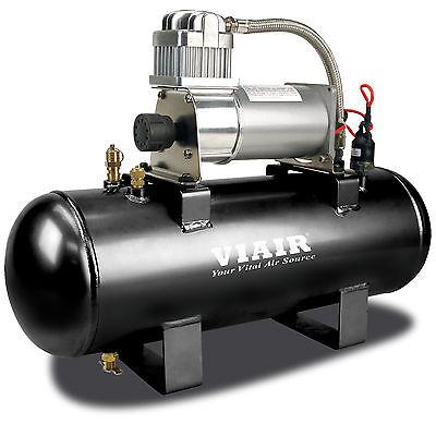 Viair 150 PSI 2-Gallon Tank 12V 280C Pewter Air Compressor Source Kit for Tires