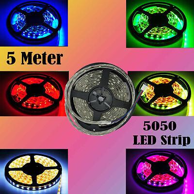 5050 RGB LED Luces impermeables que cambian de color Iluminación 5 metros...
