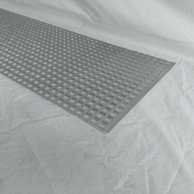 Perforated Metal Aluminum Mill Sheet 18 Thick 12 X 12 X 12 Square Hole