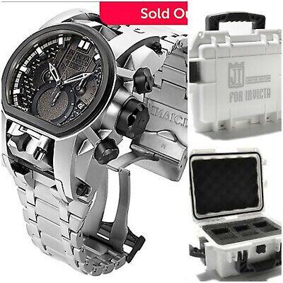 Invicta Reserve Bolt Zeus Magnum 2 Swiss Movements Silver Black Watch + JT Case!