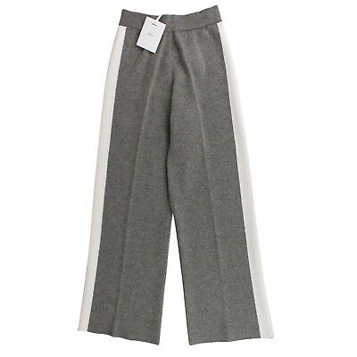 NWT CHRISTIAN DIOR Gray Knit Side Stripe Track Pants 42/6