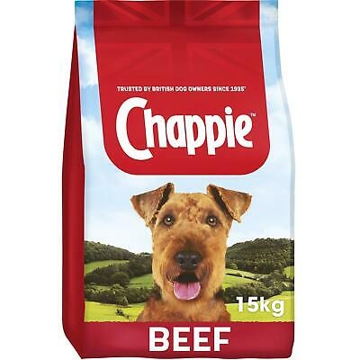 15kg Chappie Complete Dry Adult Dog Food with Beef and Wholegrain Cereal