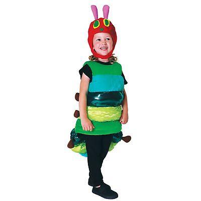 Kinder Mädchen Jungen Deluxe Very Hungry Caterpillar Insekten Kostüm Buch (Hungry Caterpillar Kostüm)