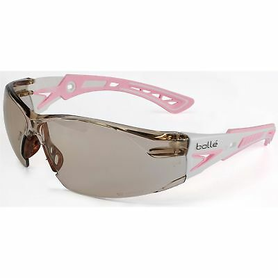 Bolle Rush Safety Glasses With Clear Csp Anti-fog Lens Pinkwhite Temples