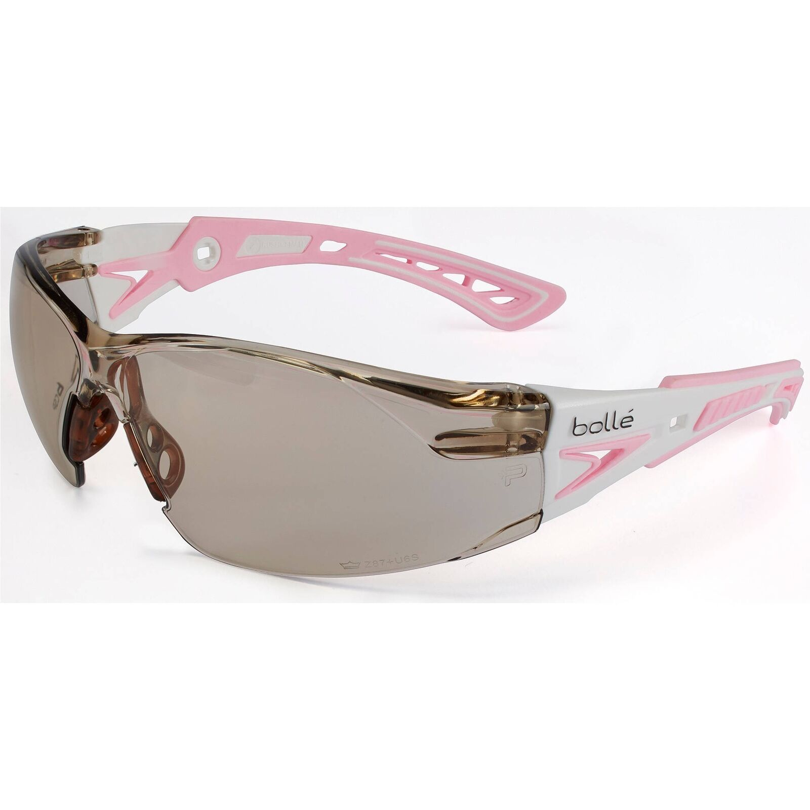 BOLLE SAFETY 40072 Rush Safety Glasses With Gray Anti-Fog Scratch-Resistant