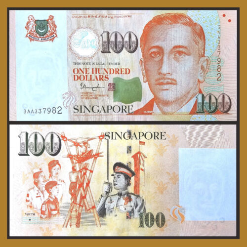 SINGAPORE 100 Dollars w//2 Solid Stars 2018 P-50 UNC Uncirculated
