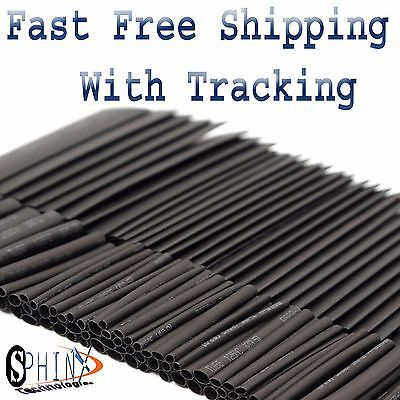 254pc Heat Shrink Wire Wrap Assortment Tubing Electrical Connection Cable Sleeve