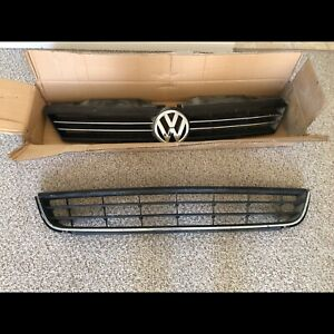 2011-2014 Jetta Sedan Upper and Lower Grilles