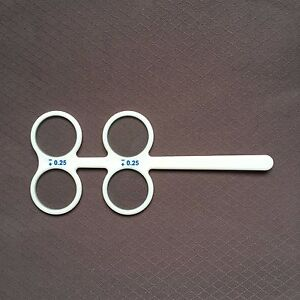 1PCS 4 Lens Confirmation Test Plastic Flippers Ophthalmic ±0.25D to ±2.50D