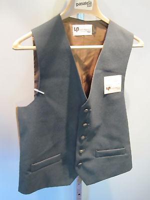 Nos Vintage Green Levis Leisure 70s Suit Vest  Jacket Disco Anchor Mod Retro XL