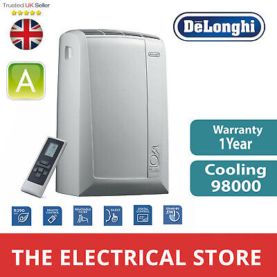 Portable Air Conditioning Unit Silent Remote Control Delonghi PAC N90 ECO White
