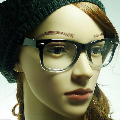 THICK Horn Rim Retro Unisex Men Women Nerd Geek Frame Clear Lens Eye (Thick Rimmed Eyeglasses)