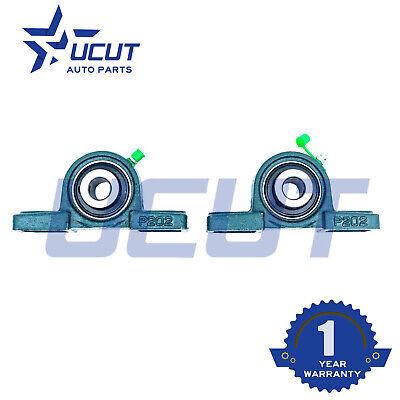 2pcs Ucp202-10 Solid Base Pillow Block Bearings Double Seals Abec3 58 Bore