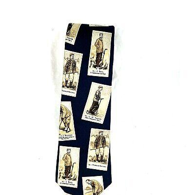 History of 1920s Men's Ties, Neckties, Bowties Lands End Champion 1920s Golfers Navy Blue Golfing Tie Mens Silk Necktie Golf $15.95 AT vintagedancer.com