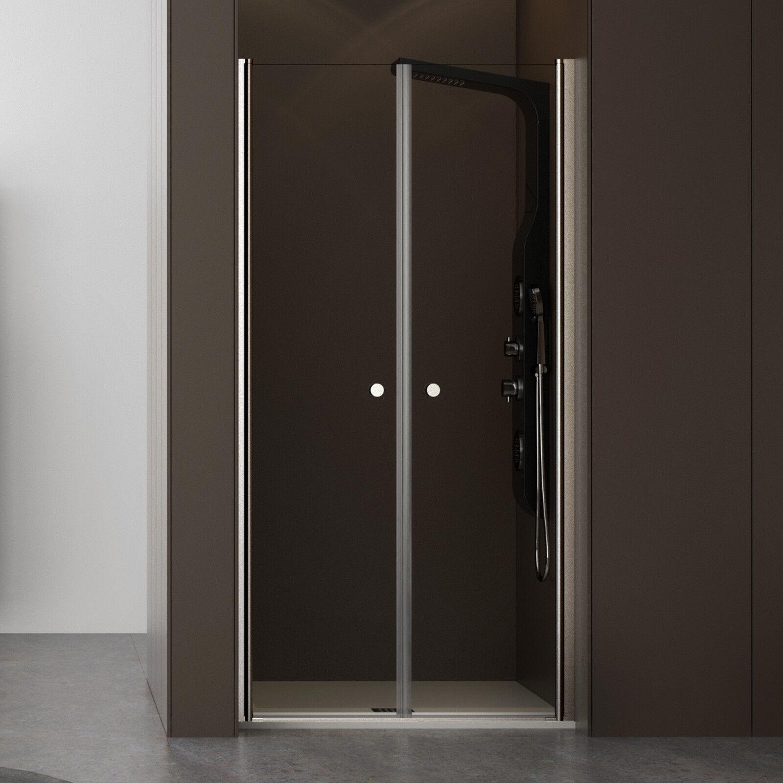 Box doccia nicchia saloon doppia porta battente vetro cristallo temperato H190cm