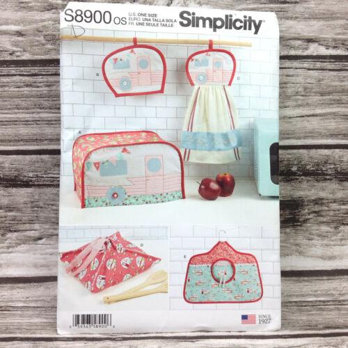 Simplicity Pattern Retro RV Trailer Kitchen Accessories S8900 One Size Oven Mitt