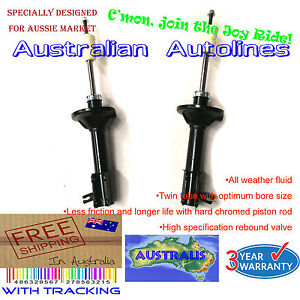 2 Rear Struts Mazda 323 Astina BG Sedan & Hatch New Rear Shock Absorbers 89-94