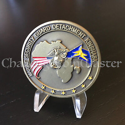 C28 Marine Security Guard Detachment Kinshasa Republic of Congo Challenge Coin
