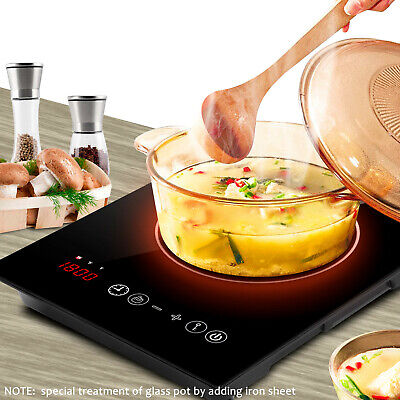 - Home Digital Touch Screen Black Induction Cooktop Lightweight Portable Burner