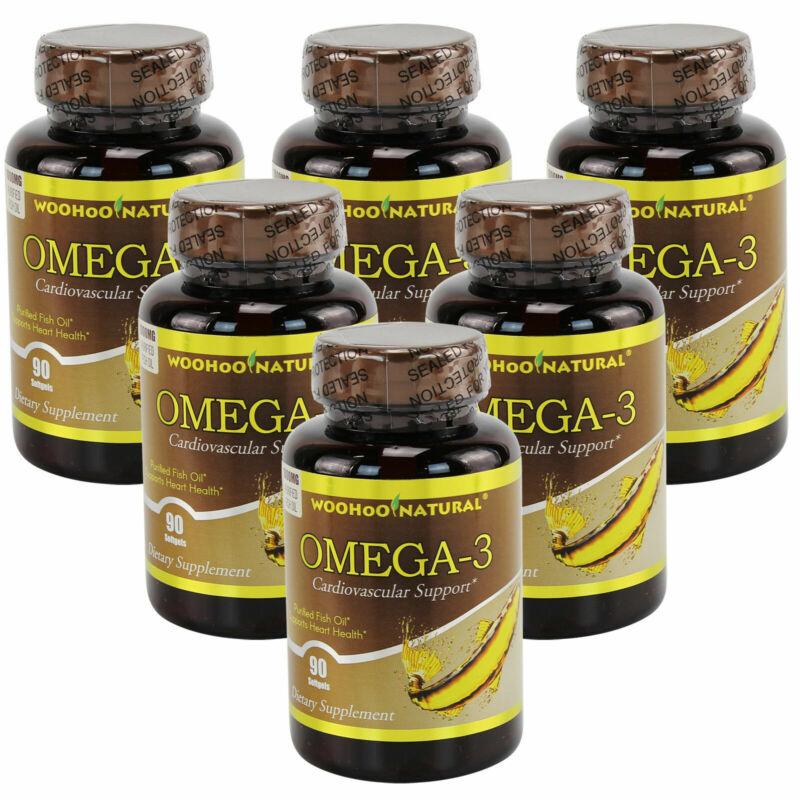 6x Nature Omega-3 Purified Fish Oil DHA EPA 90 Softgels FRESH Made In USA