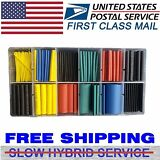 NEW 280PCS 5 Colors 8 Sizes Assorted 2:1 Heat Shrink Tubing Wrap Sleeve Kit