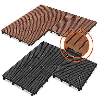 Wpc Fliese Terrassenfliesen Klickfliese Terrasse Holz Optik Ca 1m