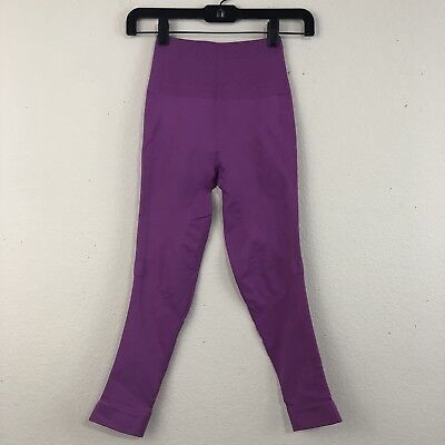 LULULEMON Size 4 Ultra Violet ZONE IN TIGHT Seamless Compression Yoga Crop M23