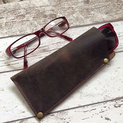Personalised Leather Glasses Case Sunglasses Specs Case (Personalized Glasses Case)