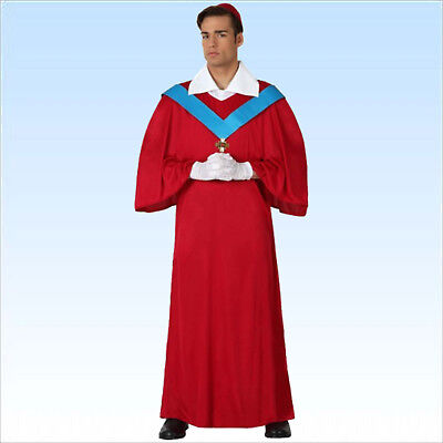 Kardinalskostüm Gr. M/L + Handschuhe Kostüm Kardinal Kirche Papst - Kardinal Priester Kostüm