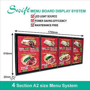 swift led menu board display system illuminated menu display light box
