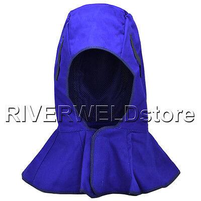 Washable Fr Full Protective Hood Flame Retardant Doorag Welding Hat Helmt New