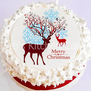 Cake Toppers For Christmas : Christmas Cake Topper Reindeer Stag Cake Topper 7 5 034 ...