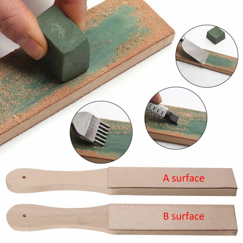 Leather Strop Sharpening Cream Polishing Compound Leather Craft Abrasive Tool US