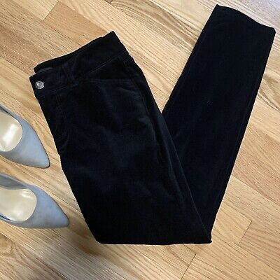 Talbots Black Velvet Signature Straight Leg Pants 2p Petite NEW NWT