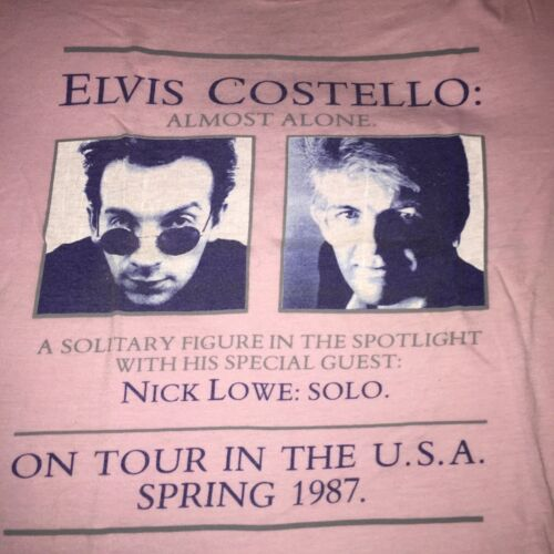 Elvis Costello Nick Lowe 1987 Tour T-shirt