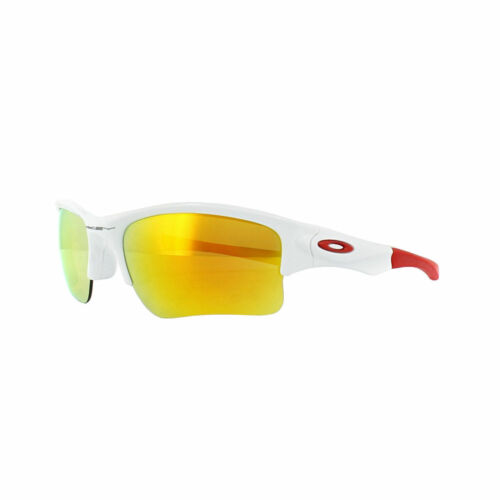 Oakley Quarter Jacket YOUTH Sunglasses OO9200-03 Polished White W/ Fire Iridium