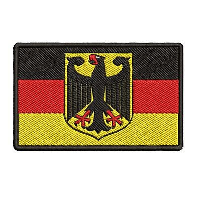 GERMAN FLAG iron-on PATCH GERMANY BUNDESDIENSTFLAGGE embroidered Deutschland NEW