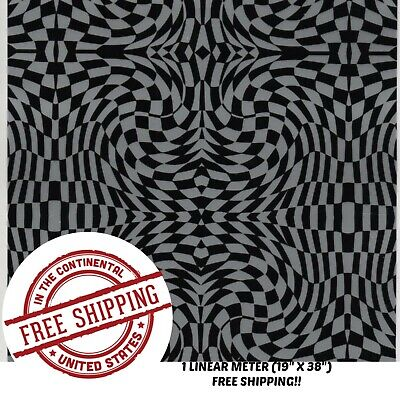 Hydrographic Water Transfer Hydrodipping Film Hydro Dip Black Silver Check 1m