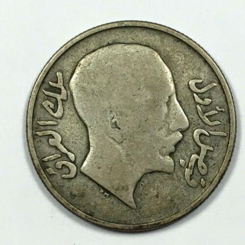 1931 IRAQ 50 FILS Coin, SILVER, KM# 100, VG