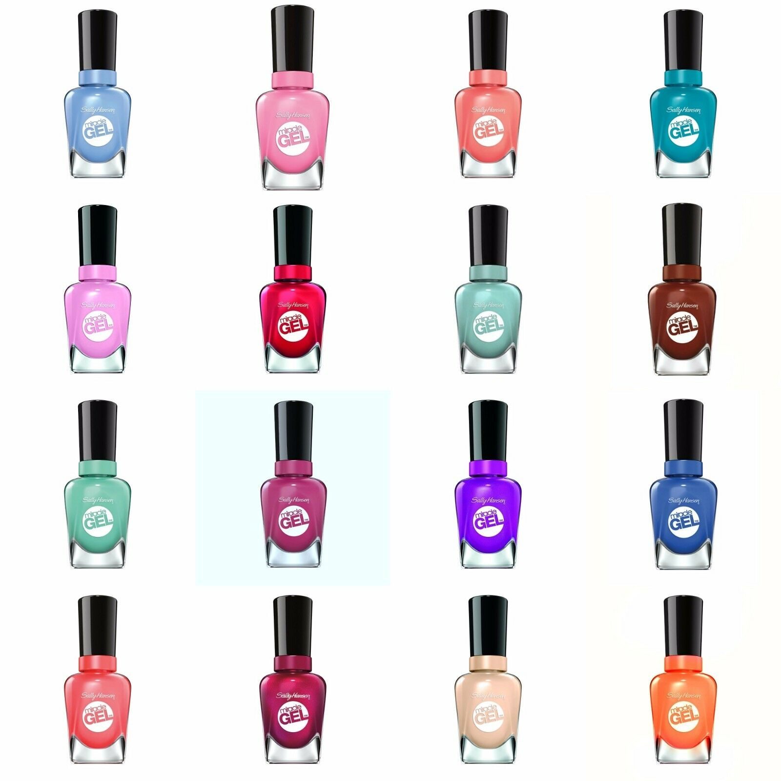 Изображение товара Sally Hansen Miracle Gel Nail Polish Lacquer 14.7mL Choose Your Shade New