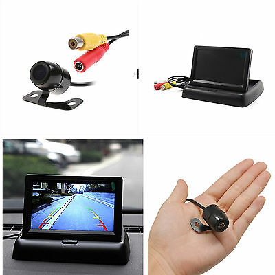 "Car SUV Reverse Rear View HD Camera+ 4.3"" Foldable TFT LCD Color Screen Monitor"