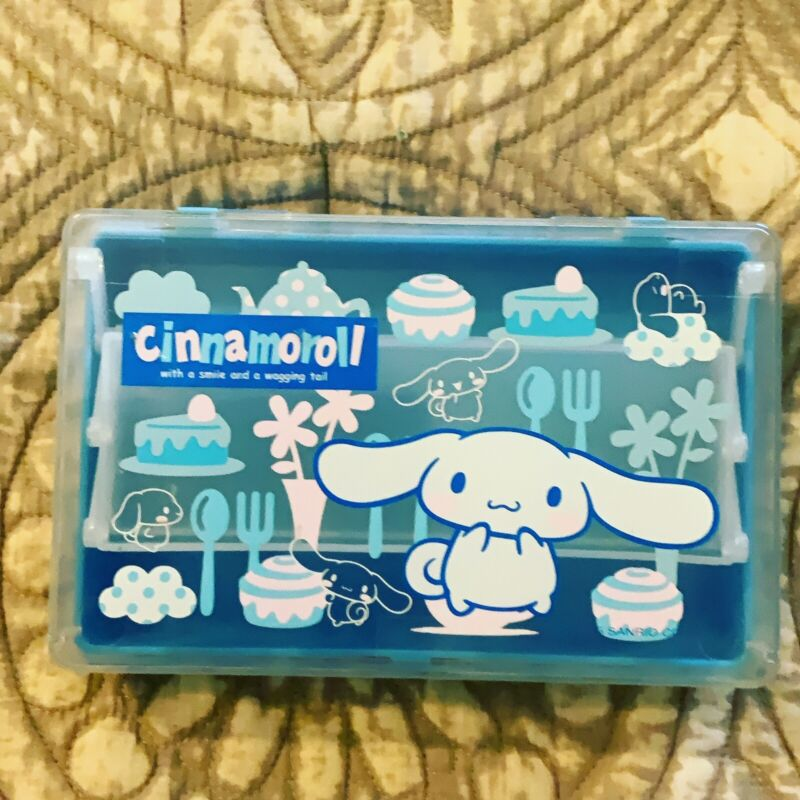 A Rare Sanrio 02', 05' Cinnamoroll Plastic Pencil Box