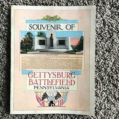 Souvenir of Gettysburg Battlefield Pennsylvania 16 Page Color Booklet