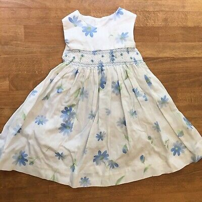 Sophie Dess Floral Smocked Dress Sleeveless Baby Girls Sz 9 M