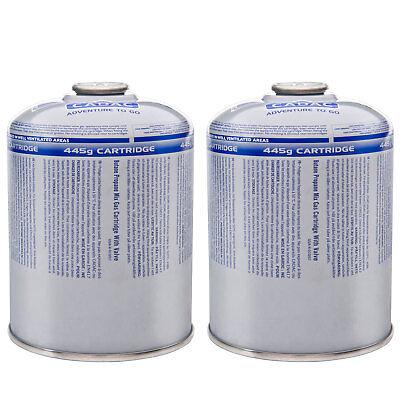 CADAC 2 x Ventil Gaskartusche - Schraubkartusche Camping Gas Kocher Propan 445 g ()
