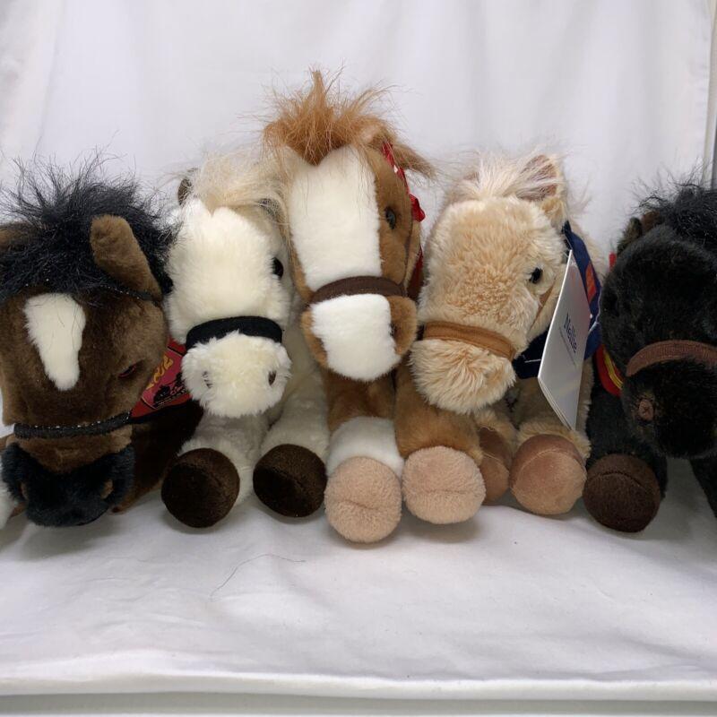 Lot of 5 Wells Fargo Collectible Legendary Plush Horses 2103051