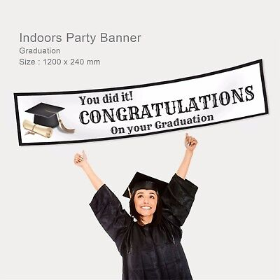 Personalised Class Congrats Graduation Party Decoration Gift Idea Canvas Banner  - Class Party Ideas