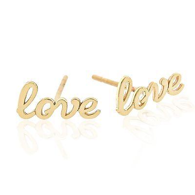 Gold  Love  Earrings  14K Solid Gold